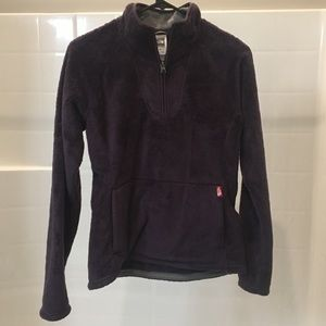Purple North Face high pile 1/4 zip